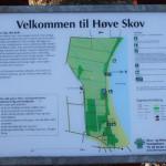 Kort over Høve Hundeskov