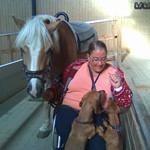 Hunde på rideskole