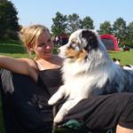 Pernille på hundeudstilling
